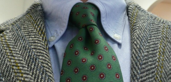 Greet tie and Grey Tweed
