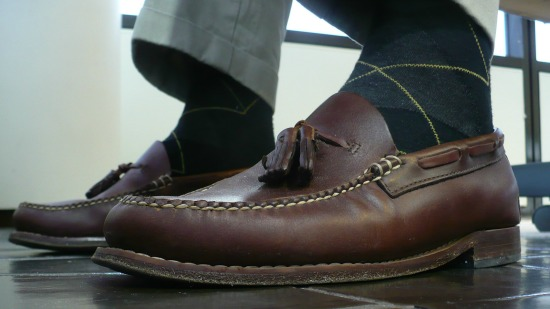 Bass Eddington Tassel w Argyle Socks