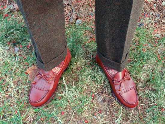Donegal odd trousers with AE loafers
