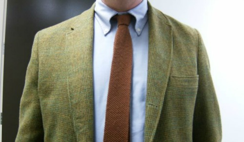 Brunt Orange Knit Tie