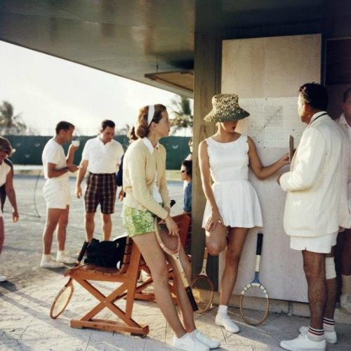 Slim Aarons Tennis in Bermuda