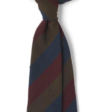 Drakes Shantung Regimental Tie