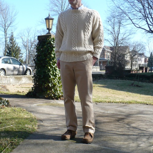 Irish Fisherman Aran Sweater