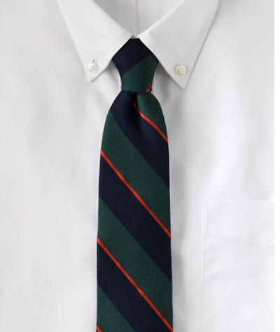 Wool Kissing Stripe Tie