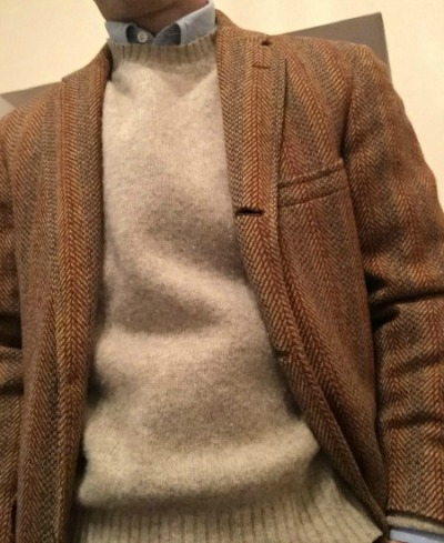 Tweed Sport Coat and Shetland Sweater