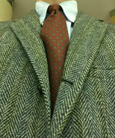 Tweed and Foulard Tie