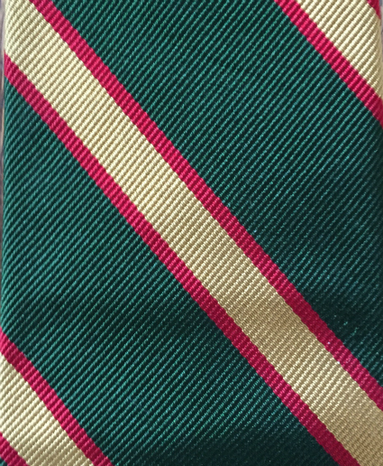 Green Yellow Red Repp Tie