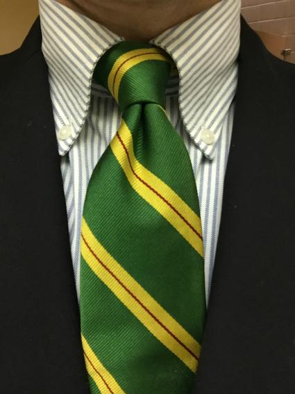 Green Tie & Blazer