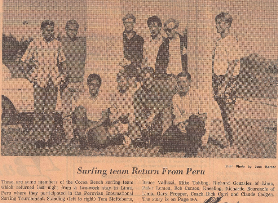 1966 World Surfing Team