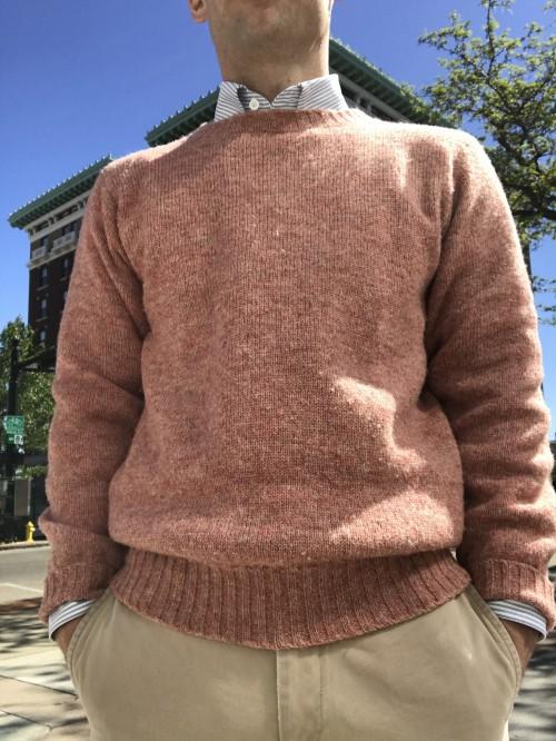 Shetland Sweater in Salmon