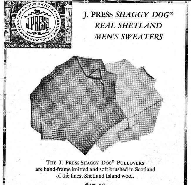 J Press Shaggy Dog YDN 9 3 68