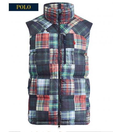 PRL Patchwork Madras Vest