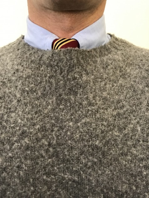 Sweater and Repp Tie