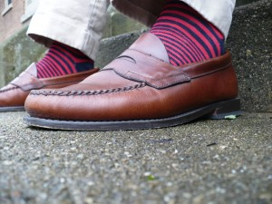 Red-Navy-Striped-Socks