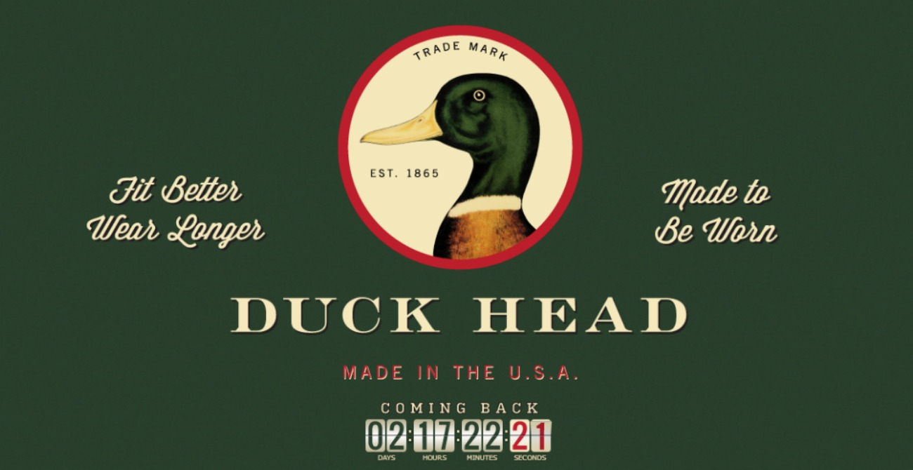 Duck Head Is Back Again
