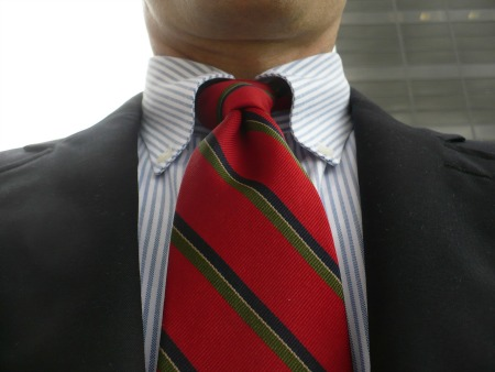 Stripe tie & shirt