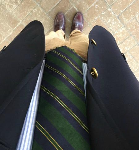 Green Rep tie & Uni Stripe