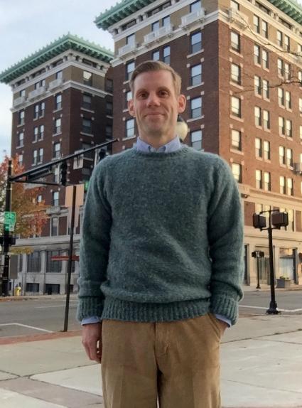 Green Shaggy Dog Sweater