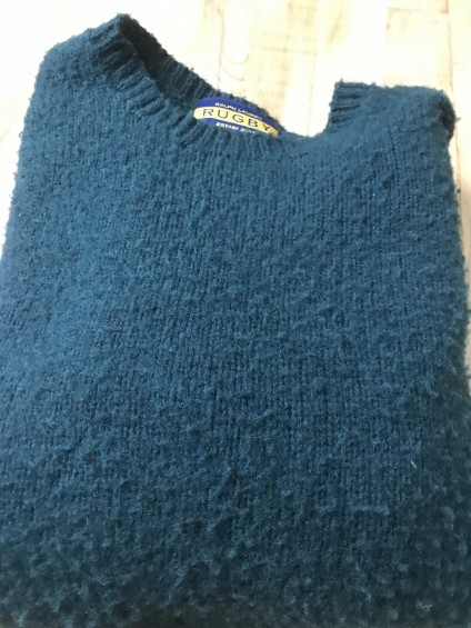 Rugby Green Shetland Sweater