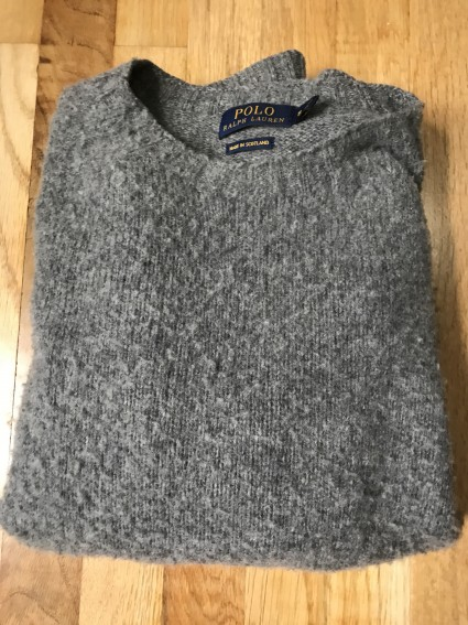 Ralph Lauren Grey Brushed Sweater