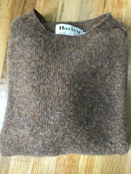 Brown Brushed Shetland Sweater