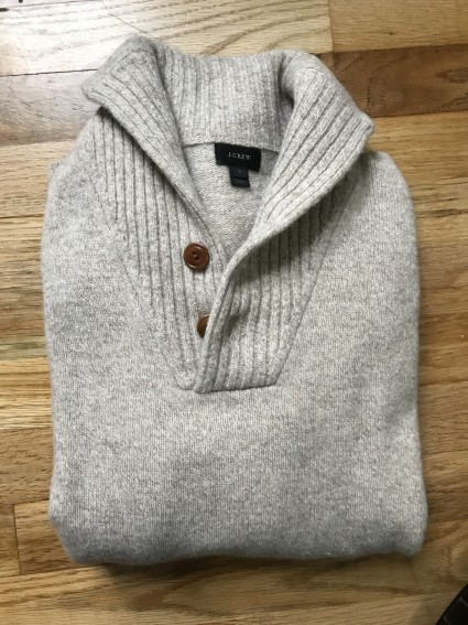 J.Crew Lamsbswool Shawl Collar Sweater