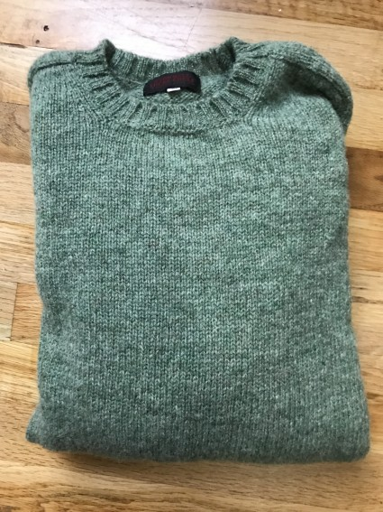 Oconnells Olive Shetland Sweater