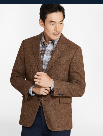 Brown Brooks Brothers Tweed Sport Coat