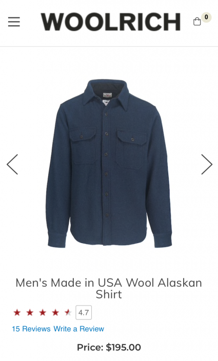 Woolrich Wool Shirt