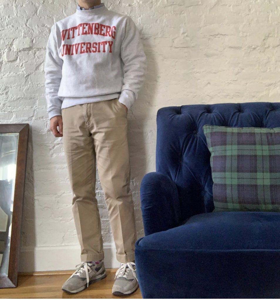 Sweatshirt with Khakis