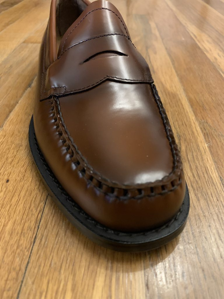Brown Bass Weejun Loafers 2020 Toe Box