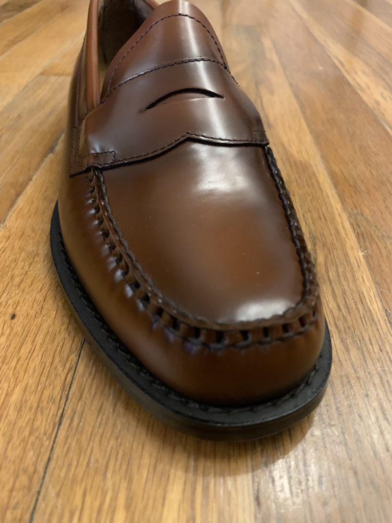 Brown Bass Weejun Loafers 2020 Toe Box